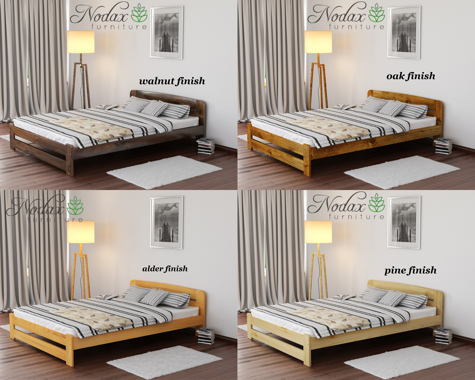 59566a53797 NODAX  New Wooden 100% Pine 6ft Super King Size Bed Frame