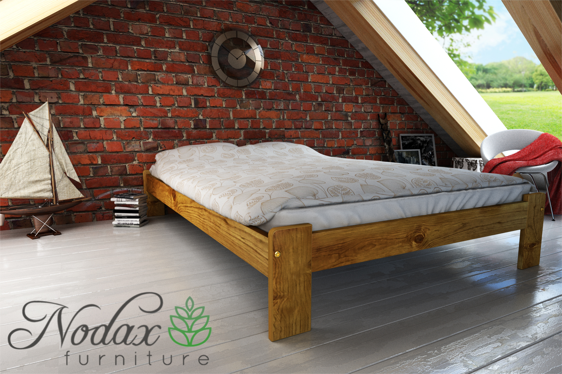 Double Wooden Bed Frame Uk Size F15