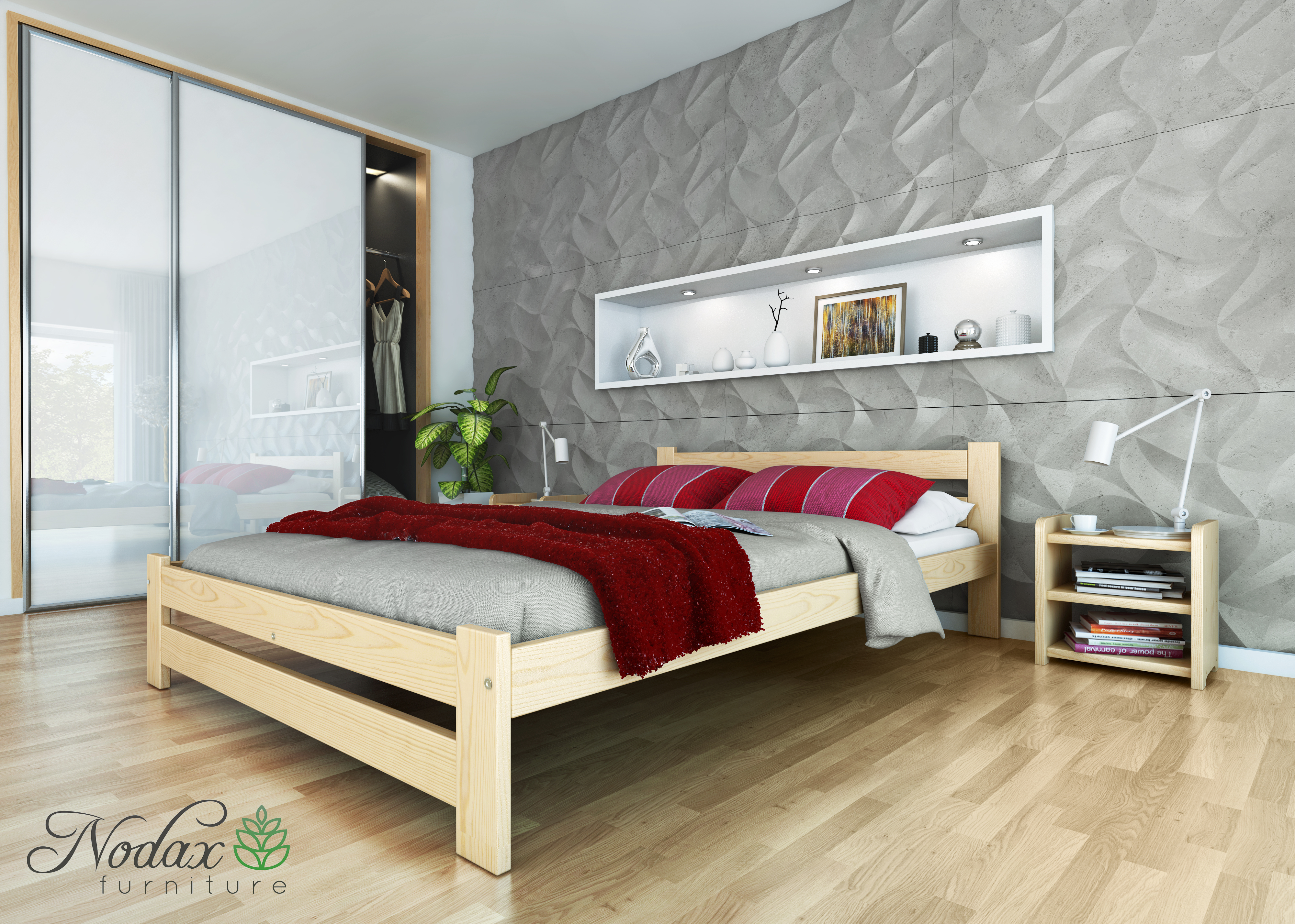 Wooden Solid Pine Double Size Bed Frame \