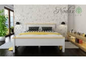 "King Size White and Pine Bed Frame ""F18"""