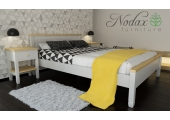 F18 RANGE Bed Frame and Bedside Units - White and Pine
