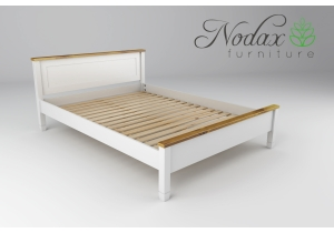 King Size White and Oak Bed Frame