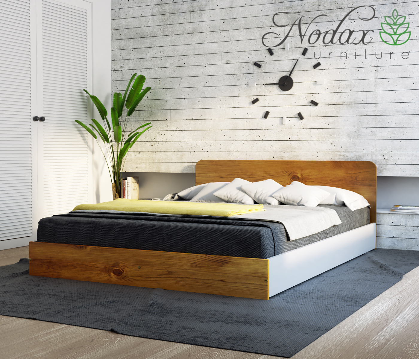 King Size Wooden Bed Frame F8 Uk Size