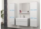 "Bathroom Furniture Set  White/White ""30"""