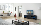 Black&Black Modern TV Cabinet  160 cm With Led Lights - Code 34