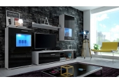 Living Room Furniture Set  Black High Gloss 33