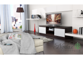 Dark Brown/White Matt Modern TV Cabinet  - Code 35