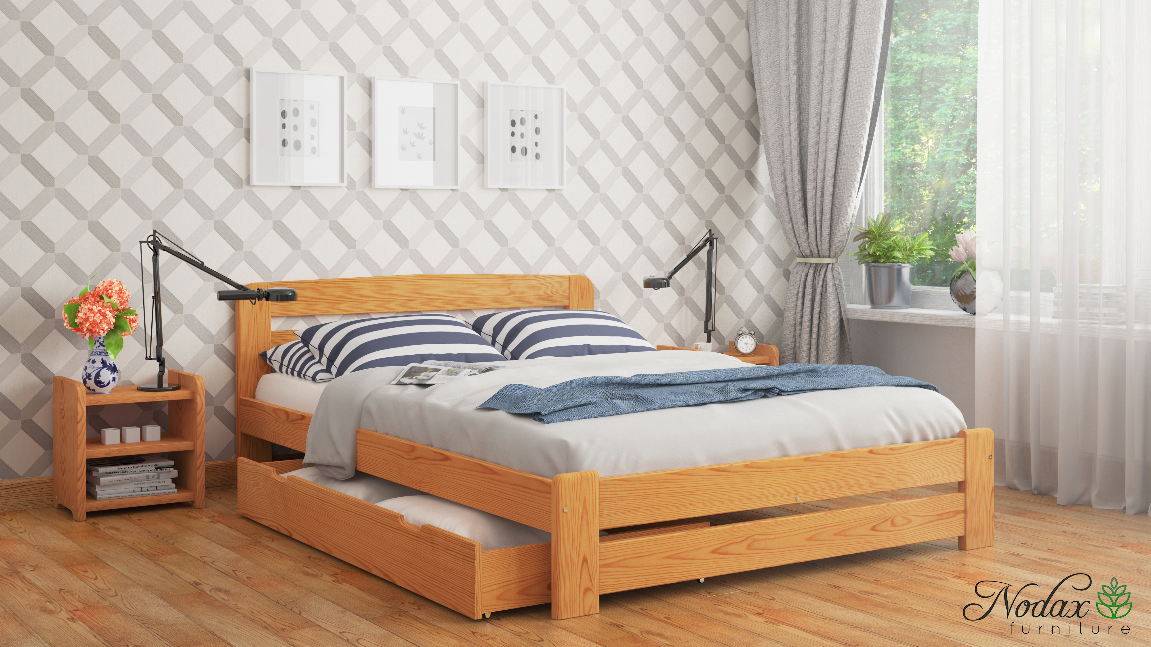 Small Double Bed Frame 4ft UK Size - \