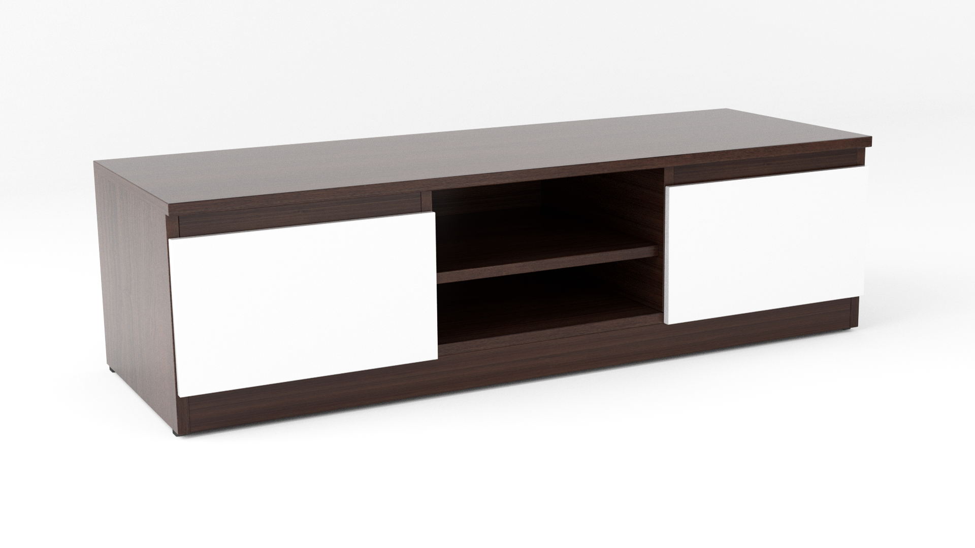 Modern Tv Unit Dark Brown